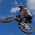 Motocross Bicycling: getting air